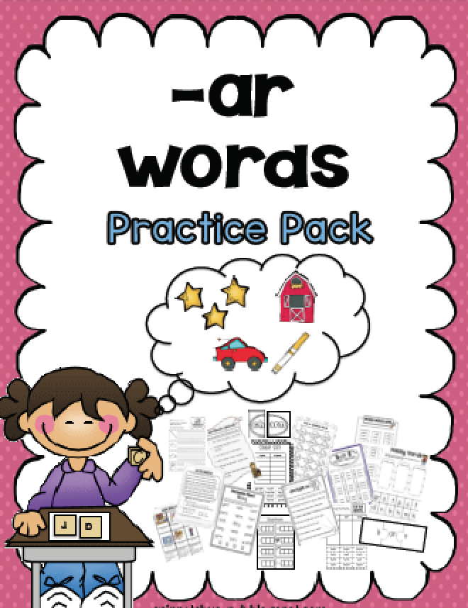 Sarah S First Grade Snippets Bossy R Ar Words Phonics Pack
