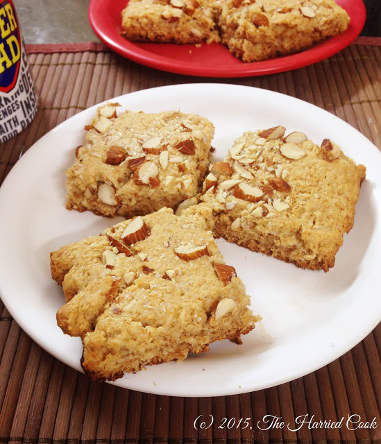Featured Recipe | Honey Almond Scones from The Harried Cook #SecretRecipeClub #recipe #breakfast #scones