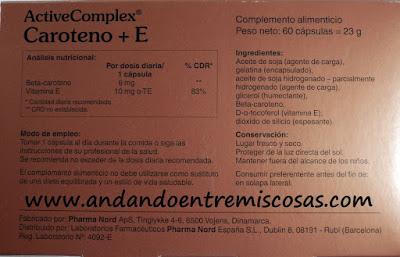 ActiveComplex Caroteno+E De Pharma Nord