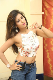 Deekshita Parvathi in a short crop top and Denim Jeans Spicy Pics Beautiful Actress Deekshita Parvathi January 2017 CelebxNext (149).JPG