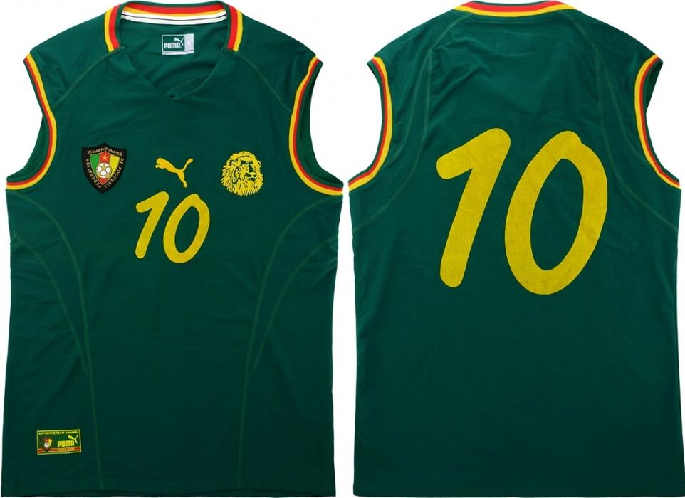b86266e242 A polêmica camisa regata da seleção de Camarões - Show de Camisas