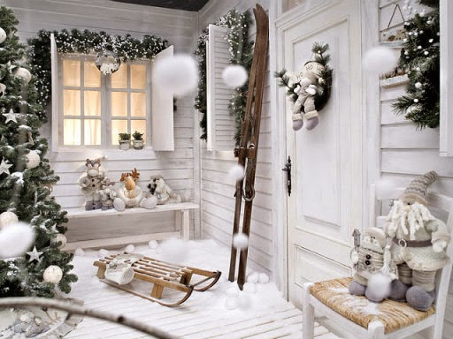 Decorar balcón por Navidad