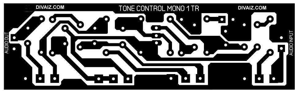 Layout-tone-control-satu-transistor