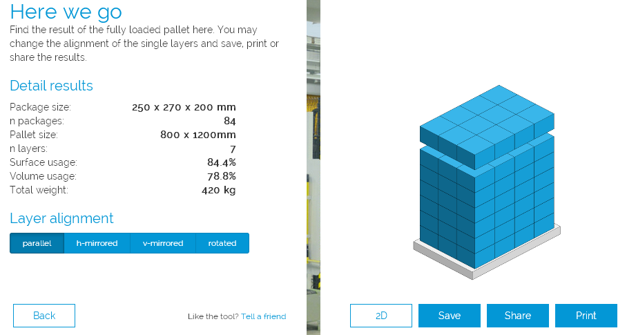 Calculating Pallet Loads Online Free of Charge