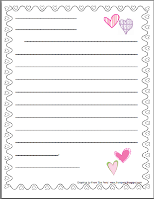 Letter writing paper template for first grade for Letter writing template for first grade