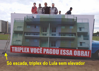 Só escada, triplex do Lula sem elevador