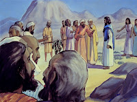 But when the spies returned, they said the people were giants and only Caleb and Joshua wanted to enter.
