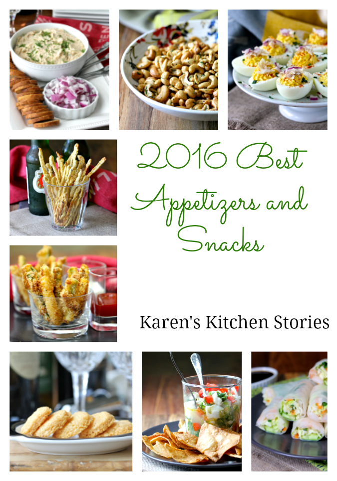 The following are my favorite appetizers and snacks from 2016.