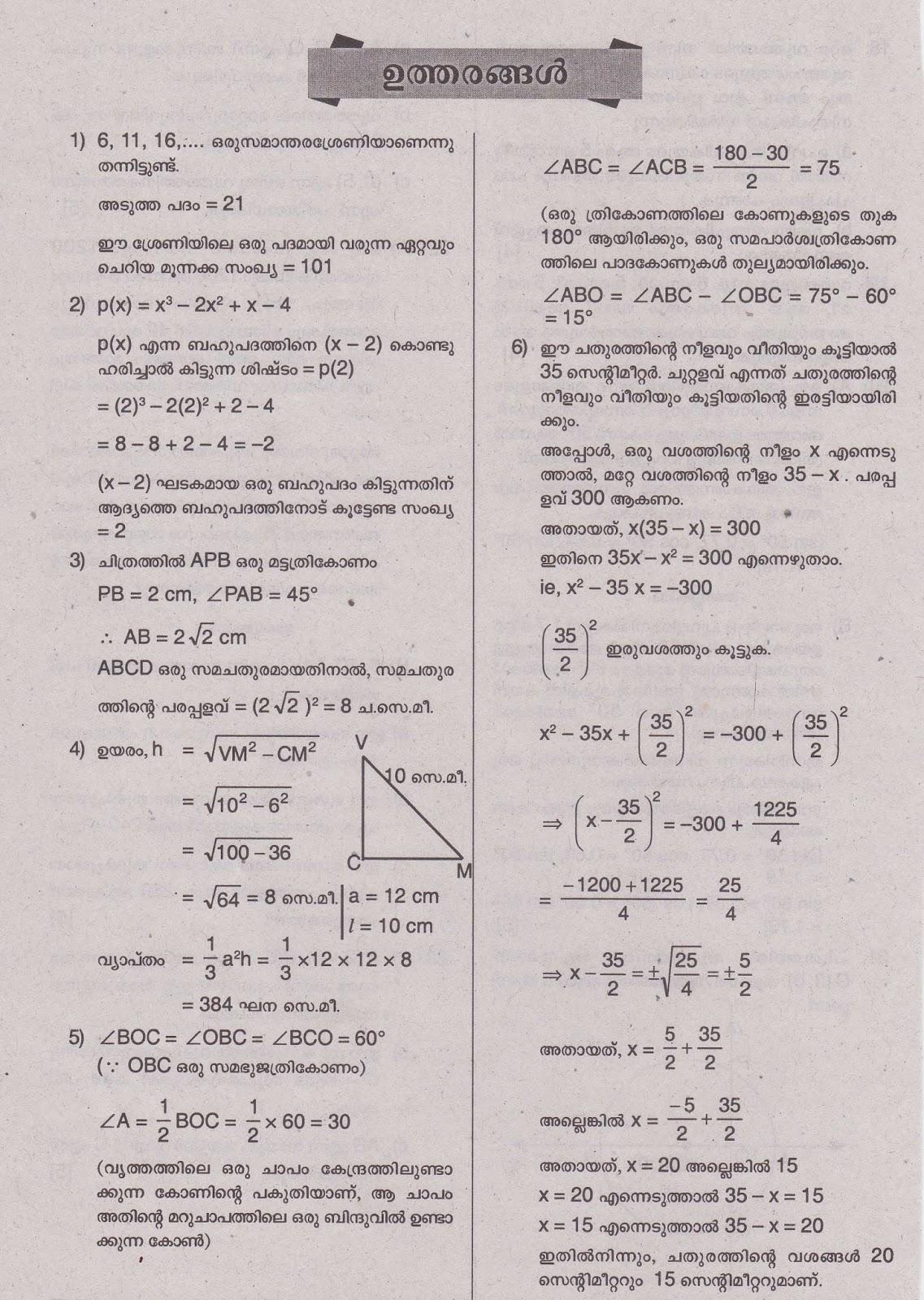 Math essay questions