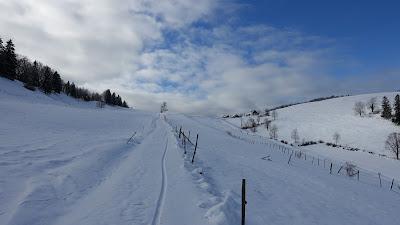 Blick zurück zum Hof beim Vorderen Erzberg