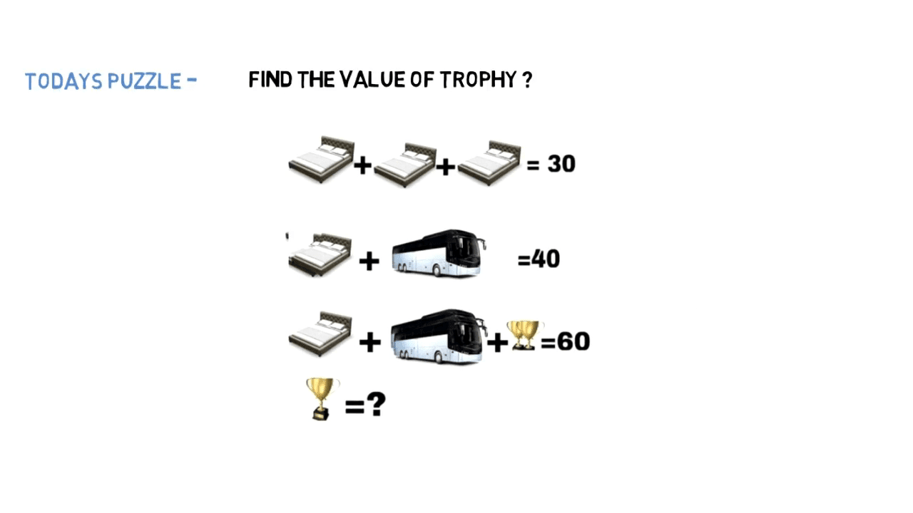 Bed Bus Trophy Maths Puzzles Brain Teasers With Answers