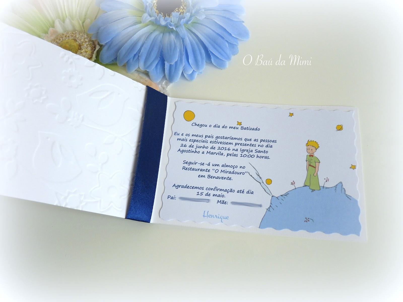 o ba da mimi convites de batizado cv061 o principezinho convites em tons de branco e azul escuro altavistaventures Gallery