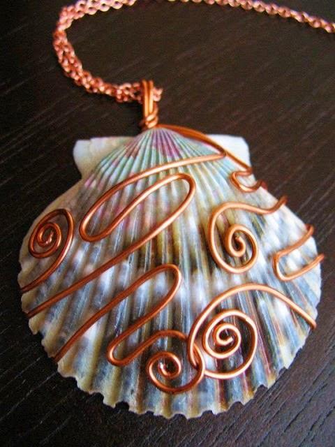 Wire Rings Seashells