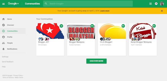 Google Plus Akan Ditutup Sepenuhnya Pada April 2019 Ini.