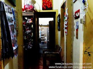 Interior da primeira casa de alvenaria do bairro Jaraguá localizada na avenida Jerimanduba