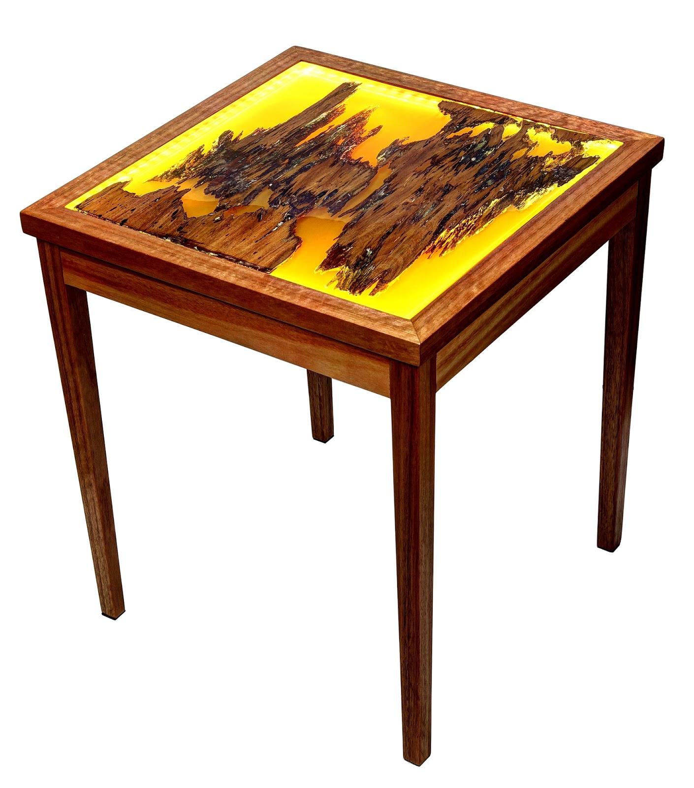 Blog da reuso de madeira e resina no design for Mesas de jardin de resina