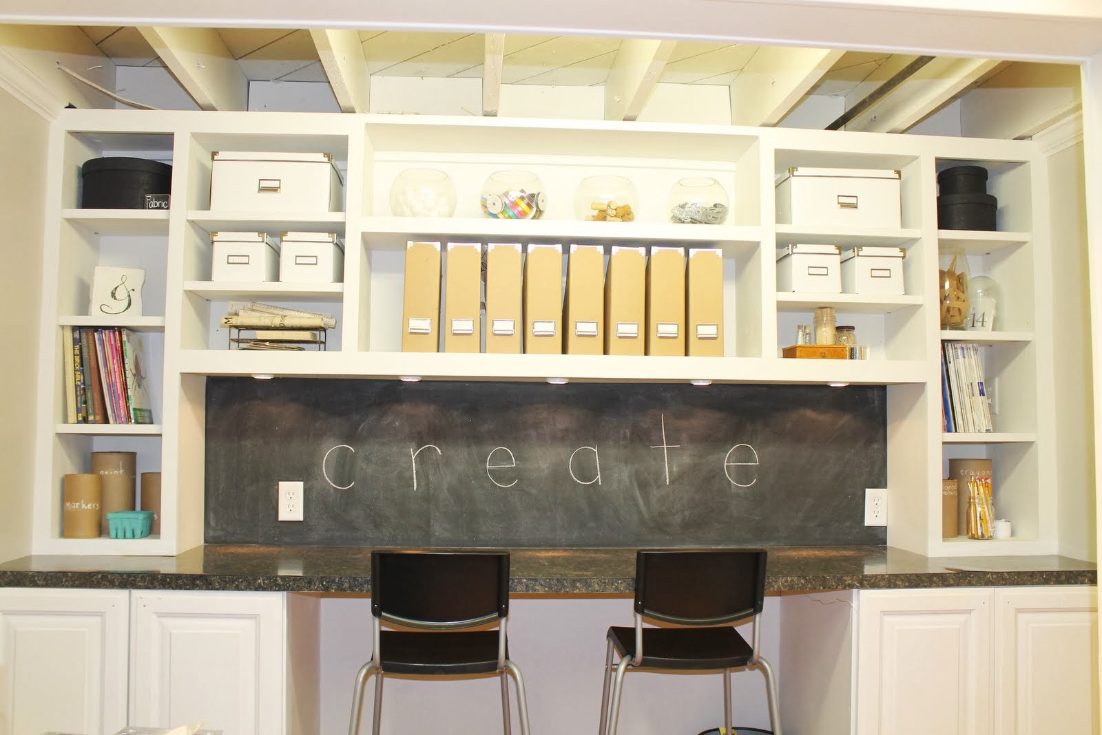 Storage For Craft Room: Rustic Craft Room