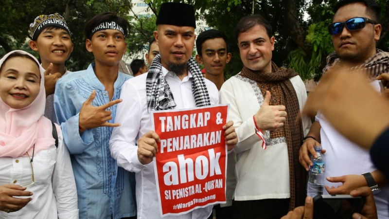 Ahmad Dhani ikut demo anti Ahok 4 November