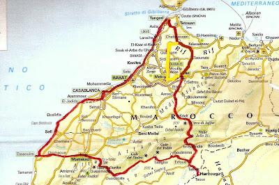 Cartina Spagna Benicassim.Due Cuori E Una Moto Marocco