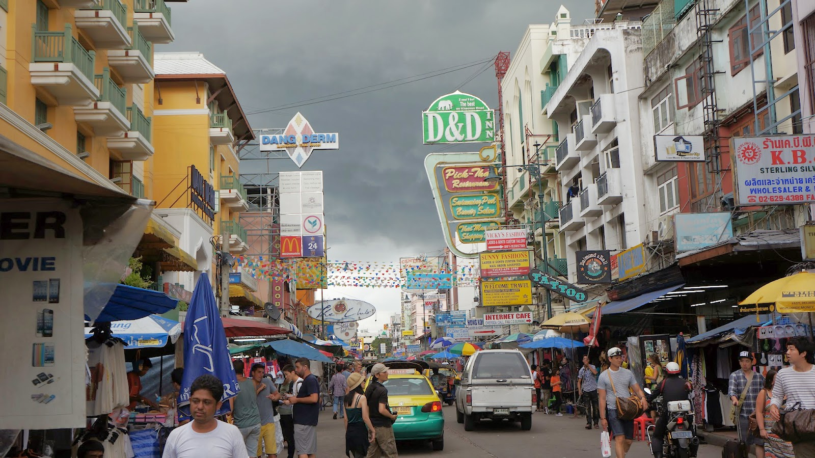 The world famous Khaosan Road, a mecca for backpackers from all around the world