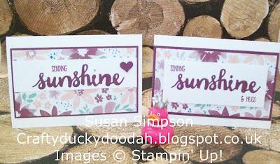 Stampin Up! UK Independent  Demonstrator Susan Simpson, Craftyduckydoodah!, Sunshine Sayings, Team Challenge, One Sheet Wonder, Supplies available 24/7,