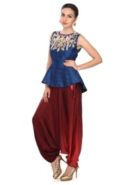 Peplum Top with Aladdin Salwar:
