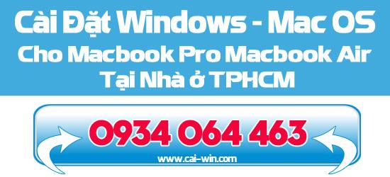 Dịch vụ cài win 7 win 8 cho macbook tại nhà ở tp Hồ Chí Minh