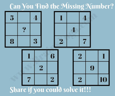 Maths Logic Puzzle to find the missing number