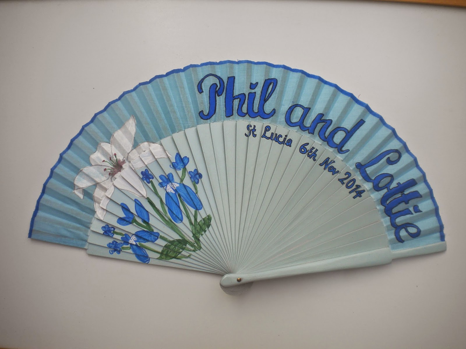 Personalised Wedding Hand Fan
