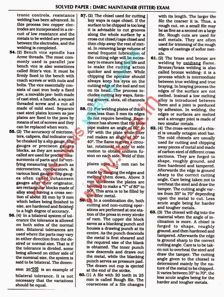 Dmrc Question Paper Pdf