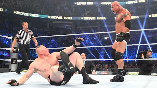 Goldberg decimates Brock Lesnar in under two minutes