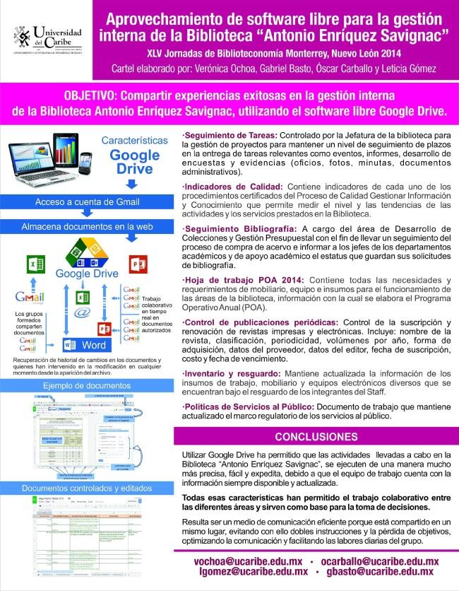 """Infografía Aprovechamiento del Software libre para la gestión interna de la Biblioteca """"Antonio Enríquez Savignac"""""""