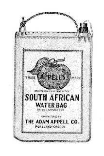 vintage ad illustration water bag