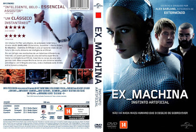 Filme EX_ Machima - Instinto Artificial (Ex Machina) DVD Capa