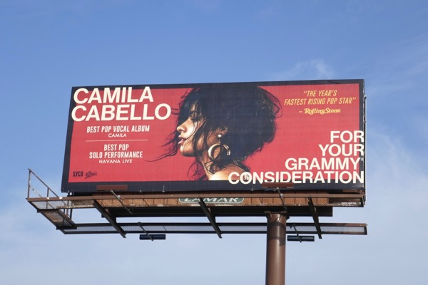 Camila Cabello Grammy consideration billboard