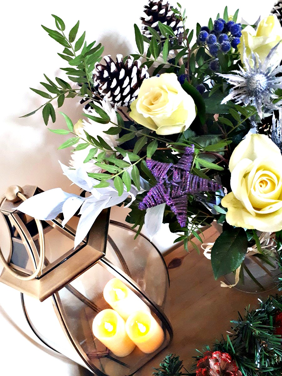 Noel Bouquet, Prestige Flowers, Christmas Bouquet, home decor christmas, The Style Guide Blog