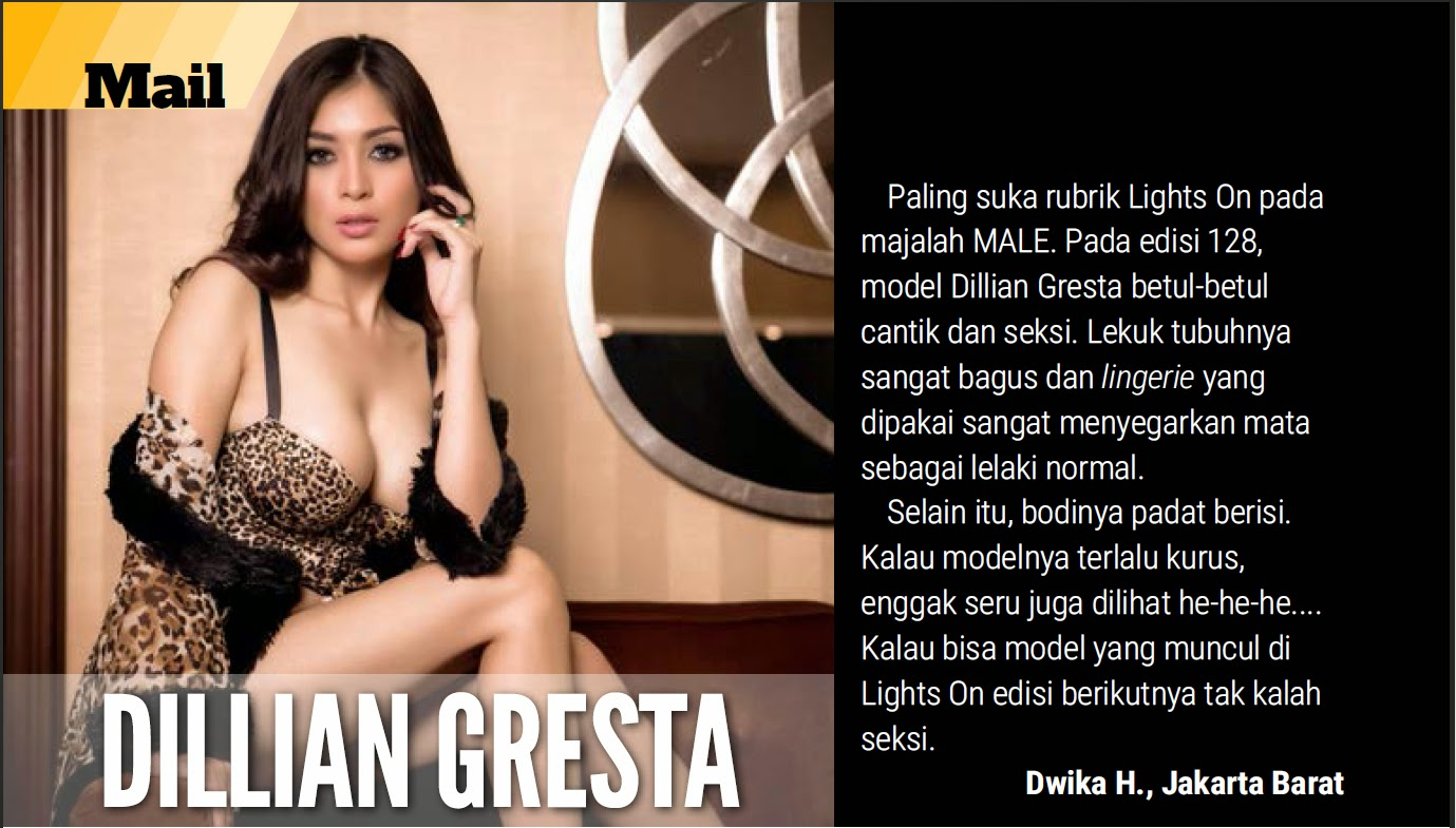 Dillian Gresta on male Mgazone April 2015
