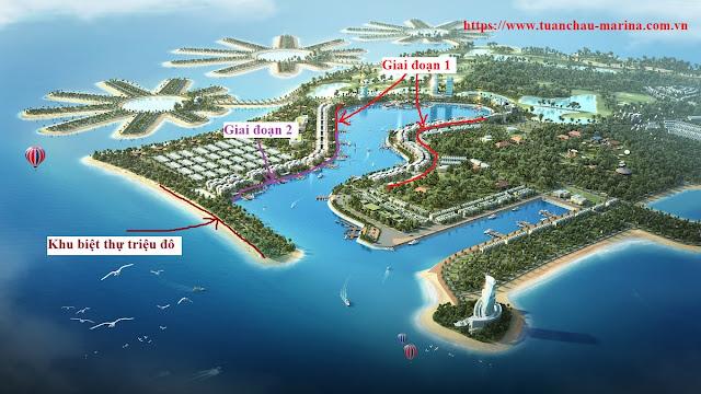 Phối cảnh các phân khu mở bán theo đợt của Tuần Châu Marina