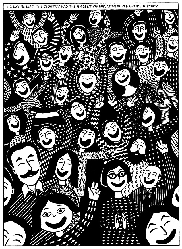 Read Chapter 6 - The Party, page 40, from Marjane Satrapi's Persepolis 1 - The Story of a Childhood