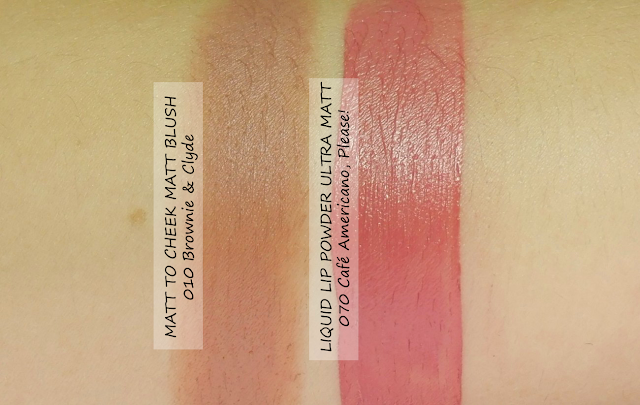 Catrice Matt to Cheek Blush Stick and Ultra Matt Lip Powder Swatches - Lana Talks