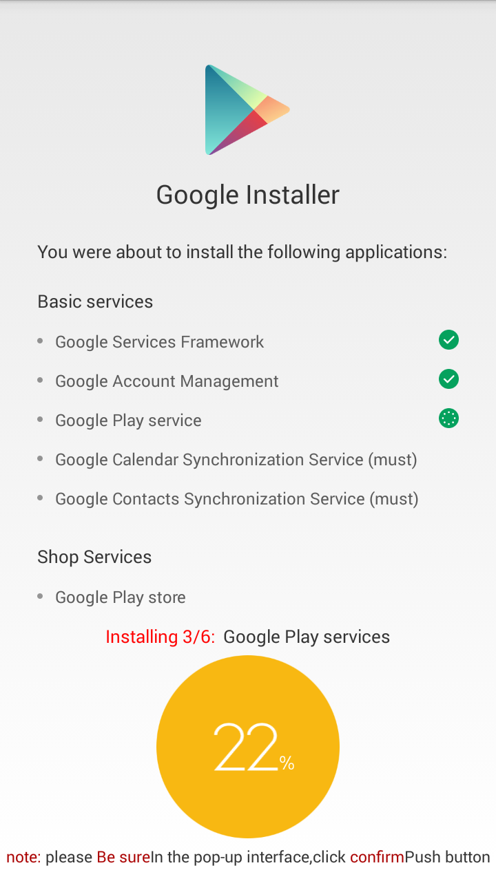 menginstal layanan google di xiaomi - google installer