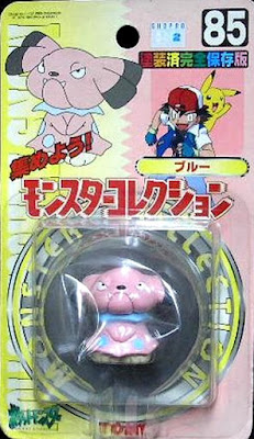 Snubbull Pokemon figure Tomy Monster Collection series