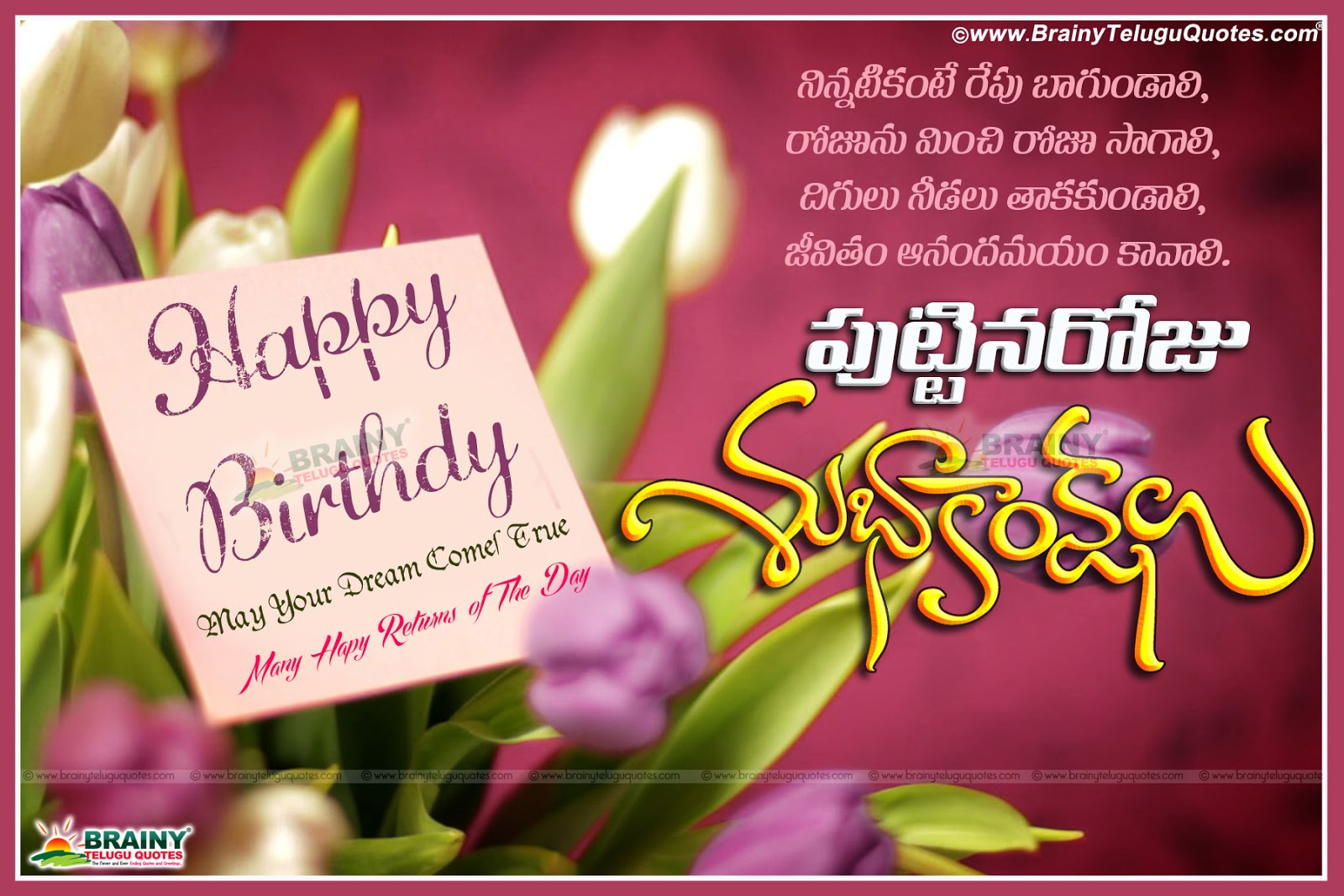 Amazing Beautiful Telugu Birthday Greetings Quotes For Brother Sister Personalised Birthday Cards Veneteletsinfo