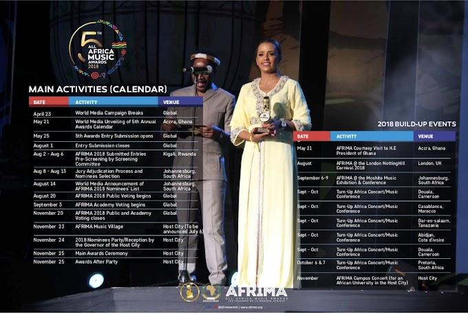 Photos: All Africa Music Awards 2018 Calendar Unveiled