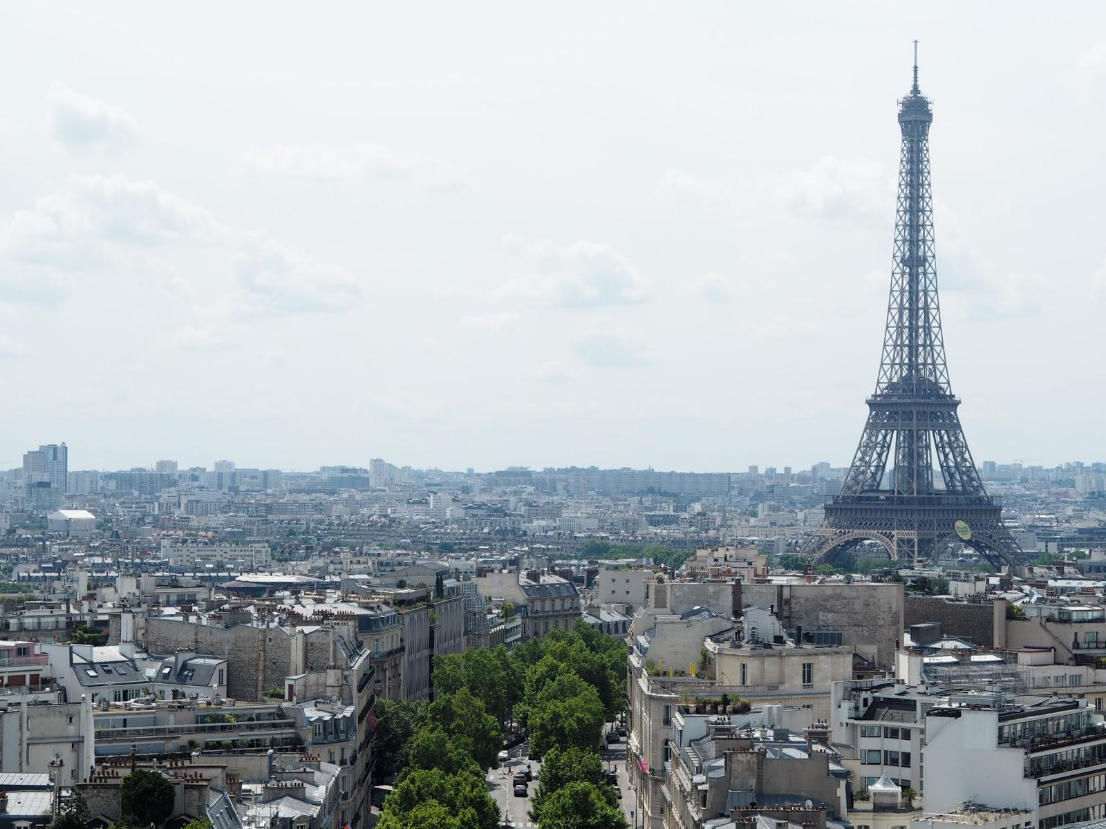 View of Eiffel Tower - Paris - L'Arc de Triomphe