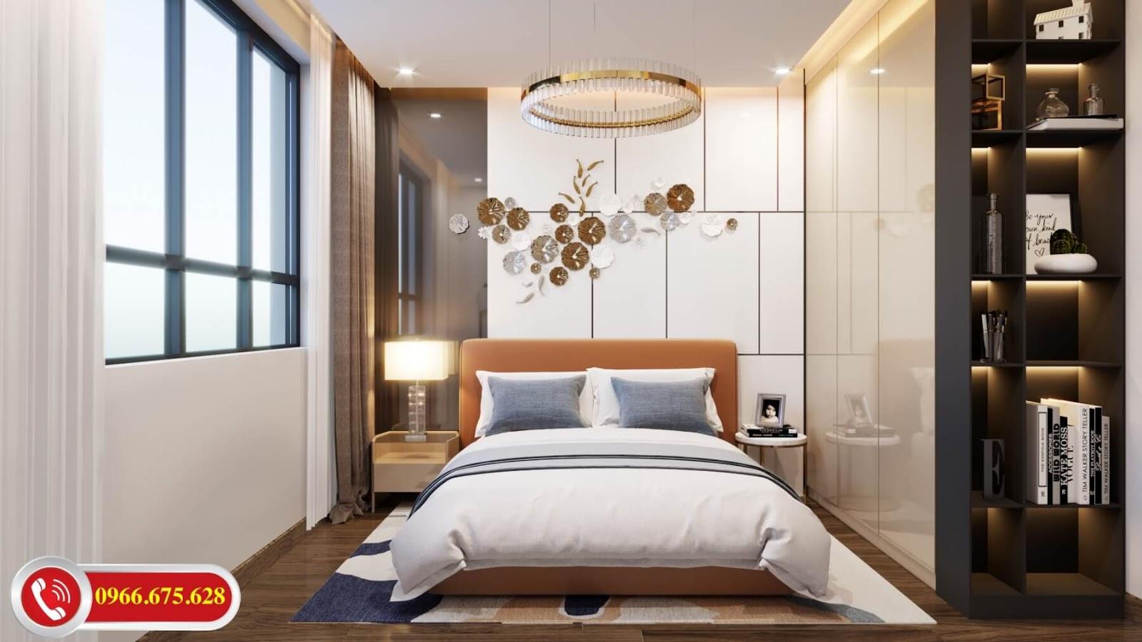 Phòng ngủ 2 căn 3 ngủ chung cư Amber Minh Khai