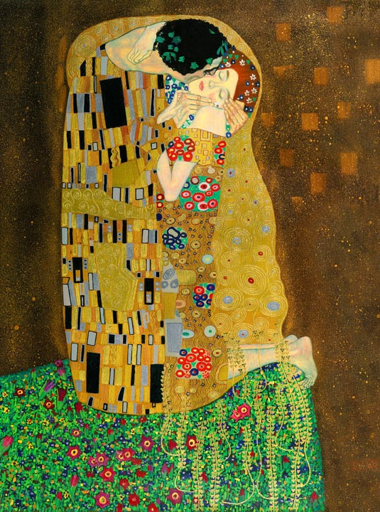 the kiss klimt meaning
