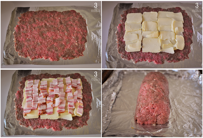 como fazer rocambole carne moída