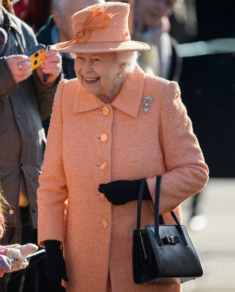 Queen Elizabeth II attended Sunday Service at St Peter and St Paul Church in West Newton