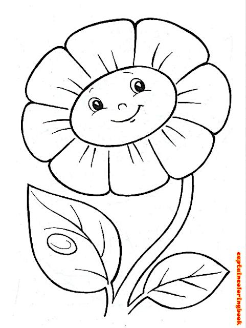 Preschool Flower Coloring -Coloring pages for preschoolers